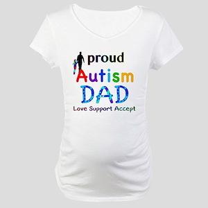 Proud Autism Dad Maternity T-Shirt