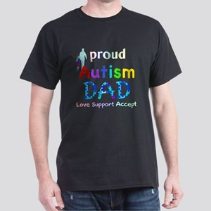 Proud Autism Dad Dark T-Shirt