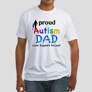 Proud Autism Dad Fitted T-Shirt
