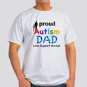 Proud Autism Dad Light T-Shirt