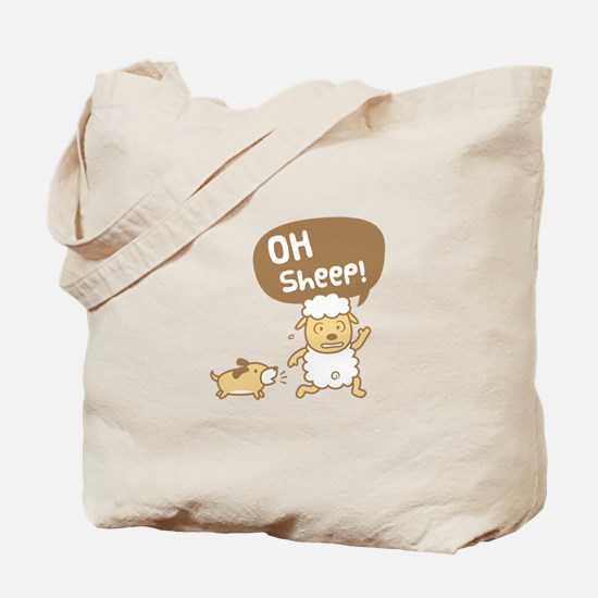 Cute Oh Sheep Pun Humor Tote Bag