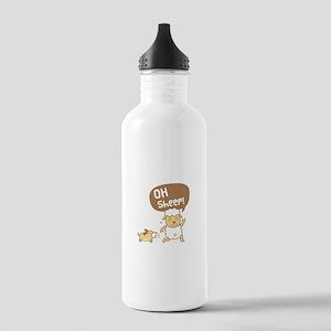 Cute Oh Sheep Pun Humor Water Bottle