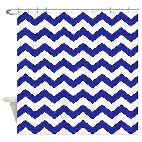 Royal Blue Chevron Shower Curtain Curtain Menzilperde.Net