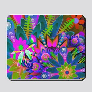 Psychedelic Flower Power Mousepad