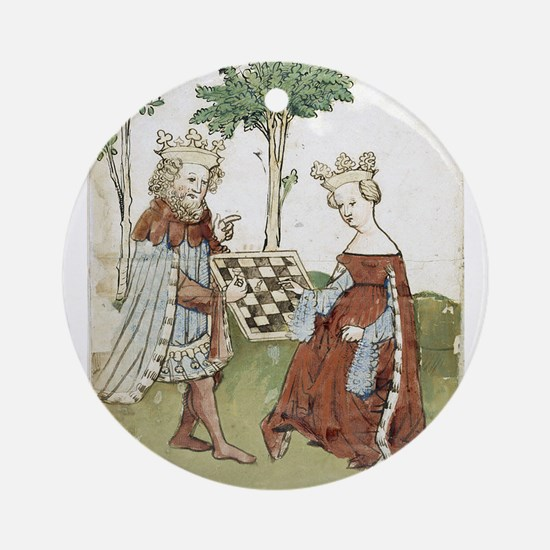 chess in art Ornament (Round)