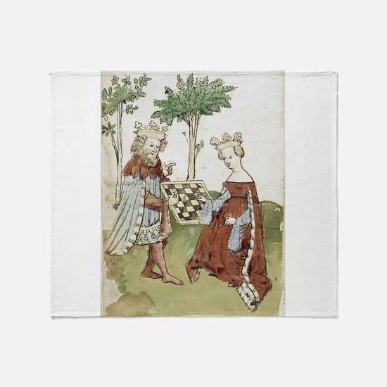 chess in art Throw Blanket