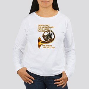 French Horn Cutie Women's Long Sleeve T-Shirt