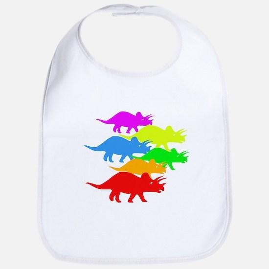 Triceratops Family Bib