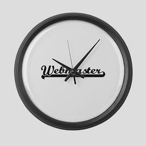 Webmaster Artistic Job Design Large Wall Clock