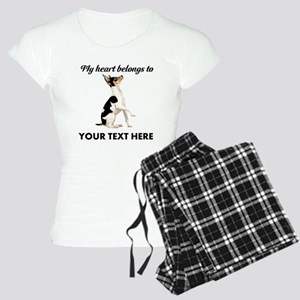 Custom Toy Fox Terrier Women's Light Pajamas