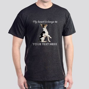 Custom Toy Fox Terrier Dark T-Shirt