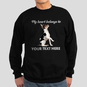 Custom Toy Fox Terrier Sweatshirt (dark)