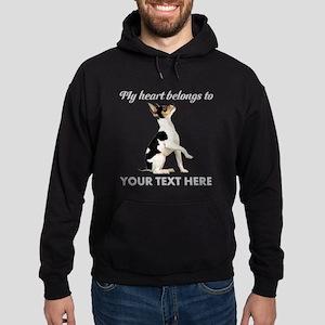 Custom Toy Fox Terrier Hoodie (dark)