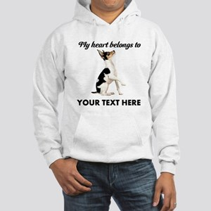 Custom Toy Fox Terrier Hooded Sweatshirt