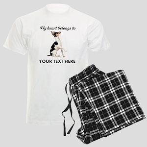 Custom Toy Fox Terrier Men's Light Pajamas