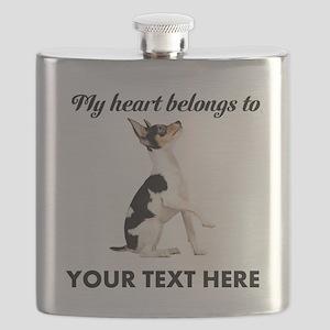 Custom Toy Fox Terrier Flask