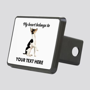 Custom Toy Fox Terrier Rectangular Hitch Cover