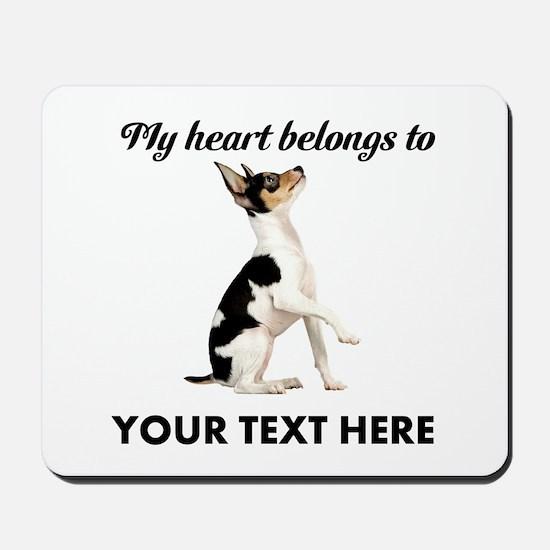 Custom Toy Fox Terrier Mousepad
