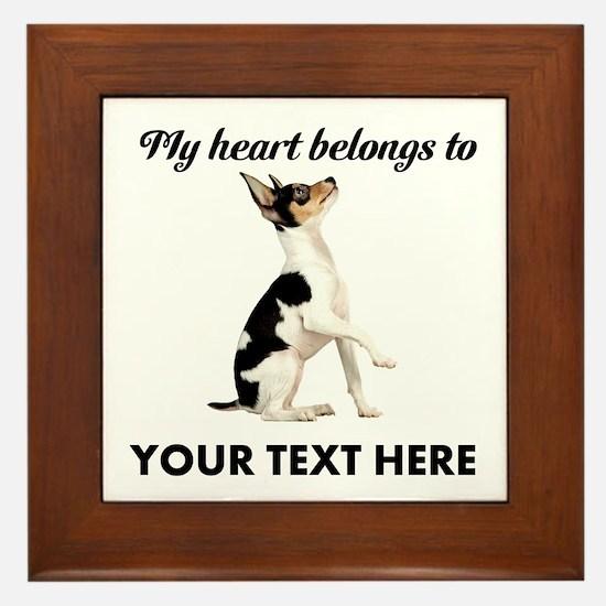 Custom Toy Fox Terrier Framed Tile