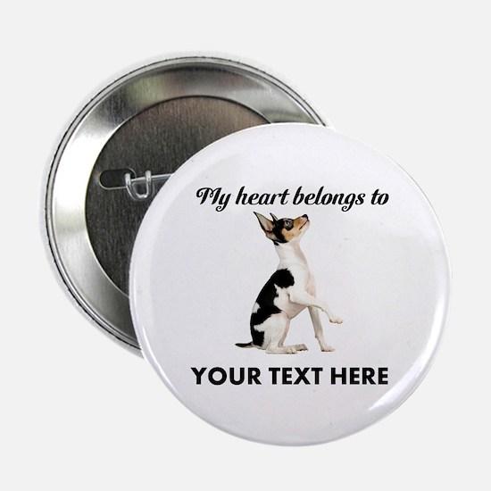 "Custom Toy Fox Terrier 2.25"" Button"