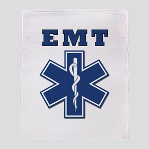 EMT Blue Star Of Life* Throw Blanket