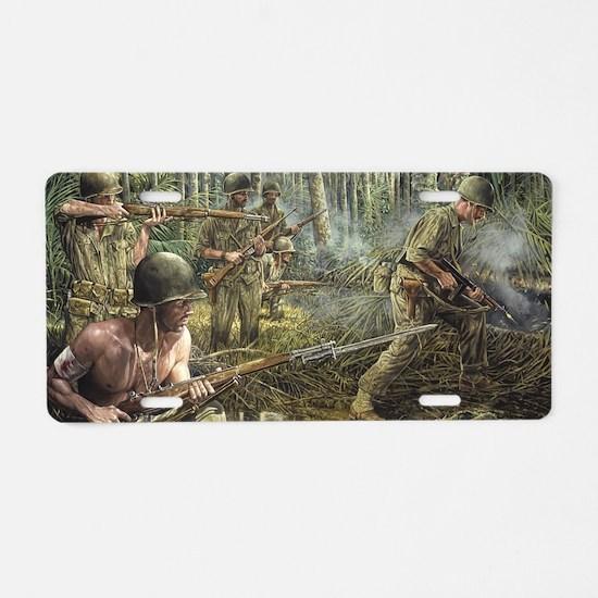 Vietnam War Painting Aluminum License Plate