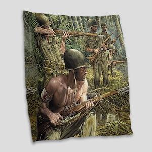 Vietnam War Painting Burlap Throw Pillow
