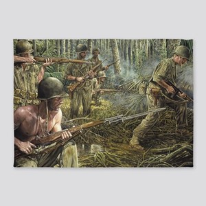 Vietnam War Painting 5'x7'Area Rug