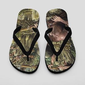 Vietnam War Painting Flip Flops