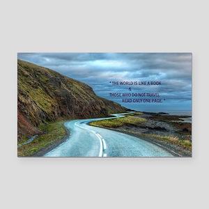 Life & Travel Rectangle Car Magnet