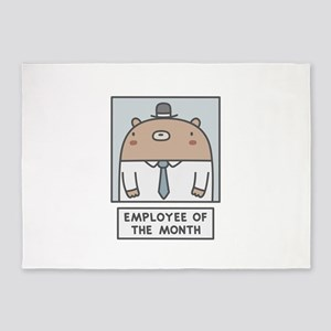 Employee Of The Month 5'x7'Area Rug