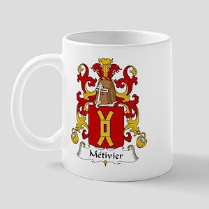 Metivier Family Crest  Mug