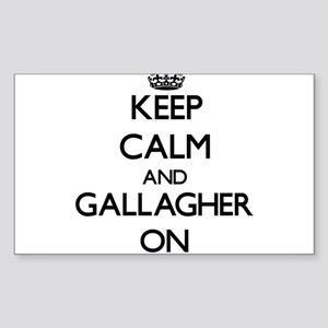 Keep Calm and Gallagher ON Sticker