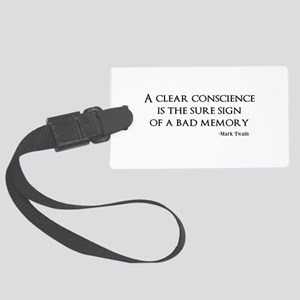 A Clear Conscience Luggage Tag