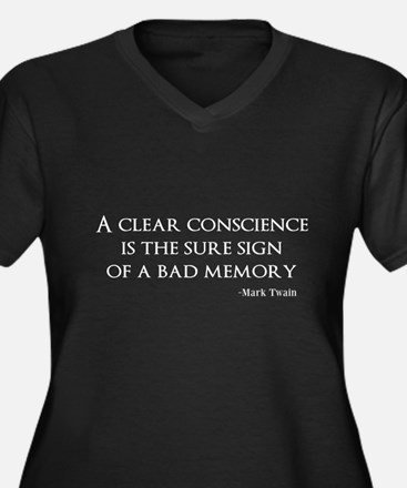 A Clear Conscience Plus Size T-Shirt