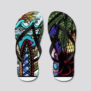 1330c0395a8e3 Hawaii Tattoo Flip Flops - CafePress