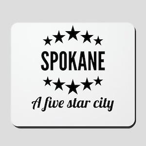 Spokane A Five Star City Mousepad