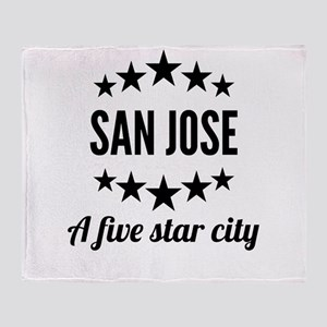 San Jose A Five Star City Throw Blanket