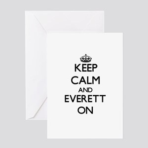 Keep Calm and Everett ON Greeting Cards