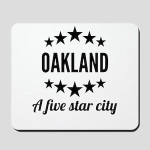 Oakland A Five Star City Mousepad