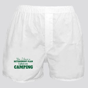 Camping Retirement Plan Boxer Shorts