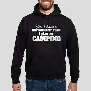 Camping Retirement Plan Hoodie (dark)