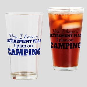 Camping Retirement Plan Drinking Glass