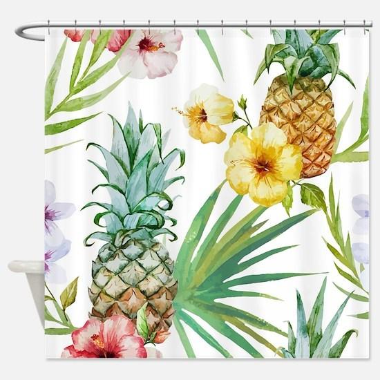 Unique Tropical flowers Shower Curtain
