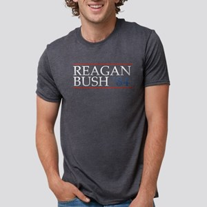 Reagan Bush 84 Mens Tri-blend T-Shirt