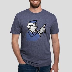 Monopoly Cop Mens Tri-blend T-Shirt