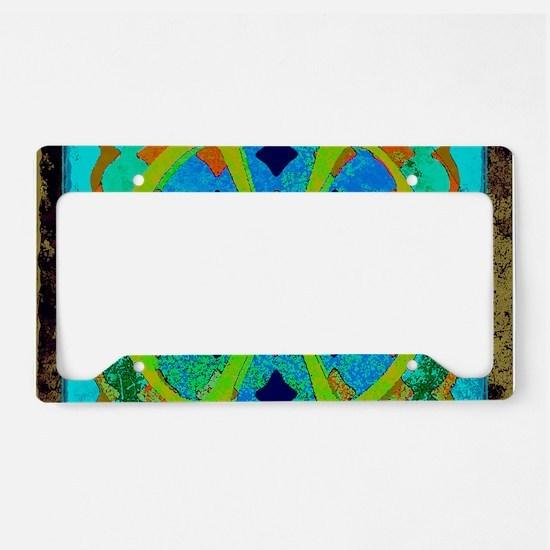 Abstract Antique Art Design License Plate Holder
