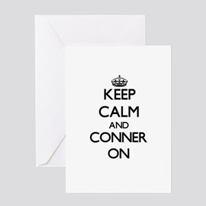 Keep Calm and Conner ON Greeting Cards