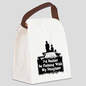 Fishing With  My Daughter Canvas Lunch Bag