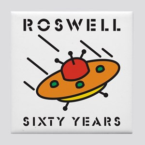 The 1947 Roswell UFO incident Tile Coaster